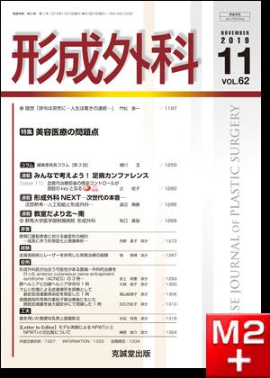 形成外科 2019年11月号【特集】美容医療の問題点