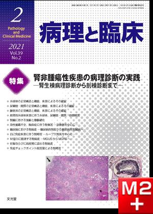 病理と臨床 2021年2月号(39巻2号)腎非腫瘍性疾患の病理診断の実践~腎生検病理診断から剖検診断まで