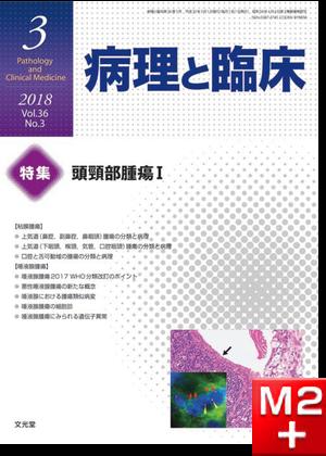 病理と臨床 2018年 3月号(36巻3号)頭頸部腫瘍I