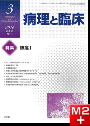病理と臨床 2016年 3月号(34巻3号)肺癌I