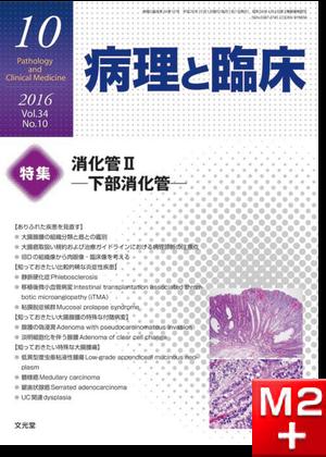 病理と臨床 2016年 10月号(34巻10号)消化管II~下部消化管